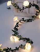 cheap -1.5m String Lights 10 LEDs Warm White Decorative AA Batteries Powered 1 set