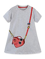 cheap -Kids Girls' Geometric Dress Gray