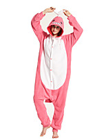 cheap -Adults' Kigurumi Pajamas Shark Onesie Pajamas Flannelette Pink Cosplay For Men and Women Animal Sleepwear Cartoon Festival / Holiday Costumes