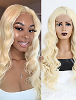 cheap -Synthetic Lace Front Wig Wavy Side Part Lace Front Wig Long Blonde Synthetic Hair 18-26 inch Women's Cosplay Soft Adjustable Blonde