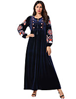 cheap -Adults' Women's Ethnic & Interracial Dress For Party Pleuche Embroidered Halloween Carnival Masquerade Dress