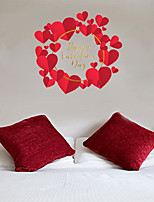 cheap -Decorative Wall Stickers - Plane Wall Stickers / Holiday Wall Stickers Hearts Bedroom / Indoor