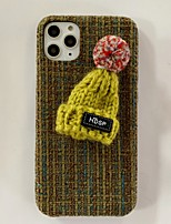 cheap -IPhone 11 Case Compatible with Apple iPhone11 Pro Max Cover Winter Warm Luxury Girly Bumper Knitted Hat Cute Protective Skin fit for Apple iPhone7 / iPhone 8 / iPhone X