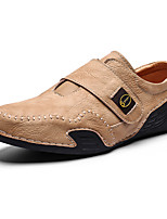 cheap -Men's Comfort Shoes PU Spring & Summer Casual Loafers & Slip-Ons Walking Shoes Breathable Black / Brown / Khaki