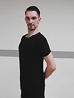 cheap -Latin Dance Tops Men's Performance Modal Ruching Short Sleeve Top
