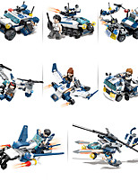 cheap -Building Blocks 663 pcs Fighter Aircraft Moto Helicopter compatible Legoing Simulation Motorcycle Military Vehicle Police car All Toy Gift / Kid's