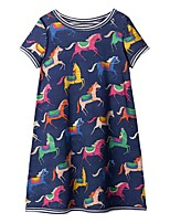cheap -Kids Girls' Animal Dress Navy Blue