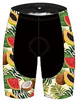 cheap -21Grams Women's Cycling Shorts Bike Pants / Trousers Padded Shorts / Chamois Bottoms 3D Pad Quick Dry Ultraviolet Resistant Sports Fruit Black / Green Mountain Bike MTB Road Bike Cycling Clothing