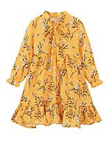 cheap -Kids Girls' Floral Dress Yellow