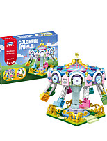 cheap -Building Blocks 513 pcs Merry Go Round compatible Legoing Simulation Train All Toy Gift / Kid's
