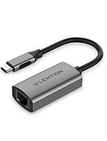 cheap -LENTION CB-CU604E USB 3.0 to USB 3.0 / RJ45 USB Hub 2 Ports High Speed / Support Thunderbolt 3