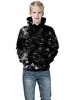 cheap -Kids Boys' Active Punk & Gothic Print Color Block 3D Long Sleeve Hoodie & Sweatshirt Black