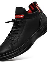 cheap -Men's Comfort Shoes PU Fall & Winter Sneakers Black