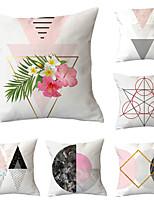 cheap -6pcs Throw Pillow Simple Classic 45*45 cm Cushion Vintage Circle Cover Sofa Home Decor Throw Pillow Case