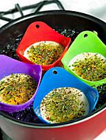 abordables -4 pcs / ensemble Flexibe Silicone Oeuf Braconnier Cuire Pocher Gousses Cuisine Outil Cuisson Poché Tasse Couleur Aléatoire