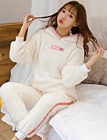 cheap -Adults' Kigurumi Pajamas Rabbit Bunny Onesie Pajamas Flannelette White / Green / Pink Cosplay For Animal Sleepwear Cartoon Festival / Holiday Costumes / Top / Pants