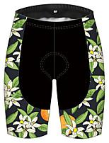 cheap -21Grams Men's Cycling Shorts Bike Pants / Trousers Padded Shorts / Chamois Bottoms Breathable 3D Pad Quick Dry Sports Fruit Lemon Green / Yellow Mountain Bike MTB Road Bike Cycling Clothing Apparel