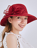 cheap -Queen Elizabeth The Marvelous Mrs. Maisel Retro Vintage Kentucky Derby Hat Fascinator Hat Women's Organza Costume Hat Black / Burgundy / Blue Vintage Cosplay Party Party Evening