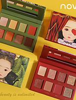 abordables -8 couleurs Fards à Paupières Mat Œil Le fard à paupières Crème Kits Facile à transporter Facile à Utiliser durable Gloss pailleté Longue Durée étanche Maquillage Quotidien Maquillage de Fête