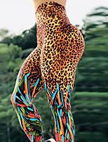 cheap -Women's High Waist Yoga Pants Winter Leopard Leopard Print Elastane Running Fitness Gym Workout Tights Leggings Sport Activewear Breathable Moisture Wicking Butt Lift Tummy Control High Elasticity
