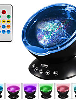 cheap -Upgraded Version Projection lamp Staycation Wave Sleep Light Remote Control Colorful Multifunction Sky Ocean Star Projector Lamp lamps