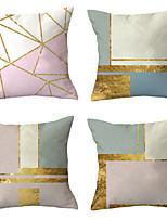 cheap -4 pcs Throw Pillow Simple Classic 45*45 cm Blue abstract print pillow office waist cushion cover