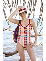 cheap -Women's Basic Rainbow Bandeau Cheeky High Waist Bikini Swimwear - Geometric Lace up Print S M L Rainbow