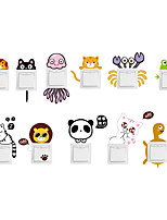 cheap -Cute Animals Light Switch Stickers - Animal Wall Stickers Animals Indoor / Kids Room