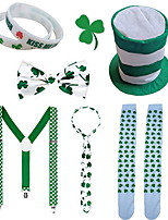 cheap -St Patrick's Day Pride Men's Costume Set kiss Me I am Irish Green Velour Party Cosplay