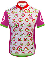 cheap -21Grams Men's Short Sleeve Cycling Jersey 100% Polyester Pink Geometic Bike Jersey Top Mountain Bike MTB Road Bike Cycling UV Resistant Breathable Quick Dry Sports Clothing Apparel / Stretchy