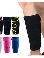 cheap -Leg Sleeves Calf Support Calf Compression Sleeves Sporty for Running Marathon Hiking Elastic Breathable Sweat-wicking Men's Women's Nylon 1 Pair Sports Black Bule / Black Black / Yellow