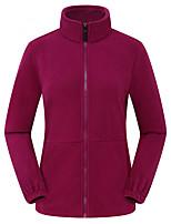 cheap -Women's Hiking Fleece Jacket Winter Outdoor Fleece Lining Warm Comfortable Winter Fleece Jacket Single Slider Climbing Camping / Hiking / Caving Winter Sports Black / Purple / Fuchsia / Royal Blue