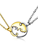 cheap -Men's Women's Pendant Necklace Classic Cat Fashion Stainless Steel Black Gold 50 cm Necklace Jewelry 1 Piece For Gift Daily Wear