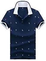 cheap -Men's Daily Polo - Geometric White