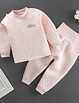 cheap -Kids Boys' Basic Solid Colored Long Sleeve Clothing Set Blushing Pink