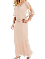 cheap -Half Sleeve Basic Chiffon Wedding Women's Wrap With Solid