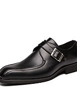 cheap -Men's Summer / Fall Classic / Casual Daily Office & Career Loafers & Slip-Ons Faux Leather Non-slipping Wear Proof Black / Brown / Square Toe