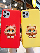 cheap -Soft Silica Gel Case for iPhone X Fun Cat Fashion Cool Cover Skin Teens Boys Girls Cases for iPhone 6 / iPhone 7/ iPhone 11 pro / Shockproof / Dustproof with Stand