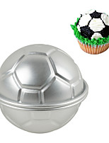 cheap -Football Cake Mold 3D Aluminium Soccer Cake Pudding Pan Baking Pastry Mould Fondant Cake Decorating Tools