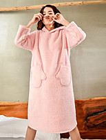 cheap -Adults' Kigurumi Pajamas Onesie Pajamas Flannelette Pink Cosplay For Men and Women Animal Sleepwear Cartoon Festival / Holiday Costumes