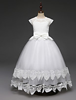 cheap -Princess Dress Flower Girl Dress Girls' Movie Cosplay A-Line Slip Cosplay White / Pink Dress Halloween Carnival Masquerade Lace Polyester