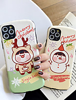 cheap -Case For Apple iPhone 11 / iPhone 11 Pro / iPhone 11 Pro Max Shockproof / Ultra-thin / Pattern Back Cover Word / Phrase / Cartoon / Christmas PC