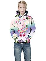 cheap -Kids Boys' Active Punk & Gothic Color Block 3D Plaid Long Sleeve Hoodie & Sweatshirt White