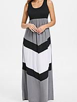 cheap -Women's Elegant Sheath Dress - Color Block Gray M L XL XXL
