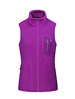 cheap -Women's Hiking Fleece Jacket Winter Outdoor Fleece Lining Warm Comfortable Vest / Gilet Single Slider Climbing Camping / Hiking / Caving Winter Sports Purple / Green / Pink