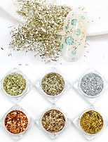 cheap -6 pcs Relaxed Fit / Universal Glitter Glitter Powder Loose powder For Finger Nail Classic Theme nail art Manicure Pedicure Daily Colorful / Folk Style