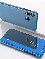 cheap -Case For Motorola MOTO G8PLUS Shockproof / Mirror / Flip Full Body Cases Solid Colored Tempered Glass