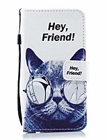 cheap -Case For Samsung Galaxy Galaxy A10(2019) / Galaxy A30(2019) / Galaxy A50(2019) Card Holder / with Stand / Flip Full Body Cases Cat / Solid Colored / Cartoon PU Leather
