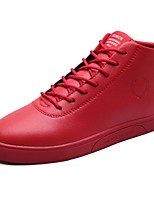 cheap -Men's Comfort Shoes PU Fall & Winter Sneakers Black / White / Red