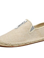 cheap -Men's Comfort Shoes Linen Spring & Summer Casual Loafers & Slip-Ons Black / Red / Beige